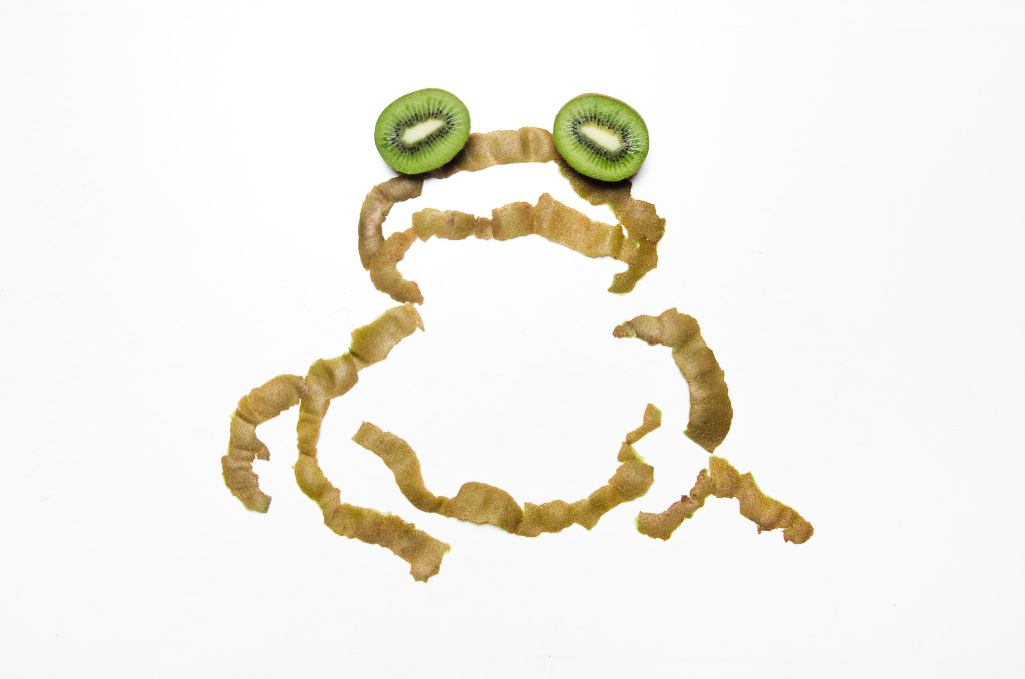 photo of a frog made out of kiwis by Kelly Crull