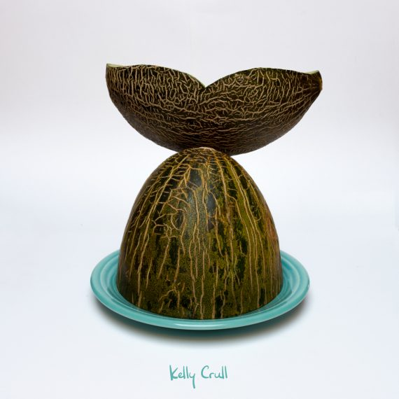photo of whale tail illustration made from a melon by Kelly Crull